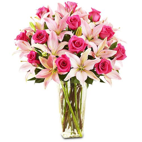 """""""Райский сад"""". Букет роз и лилий"""